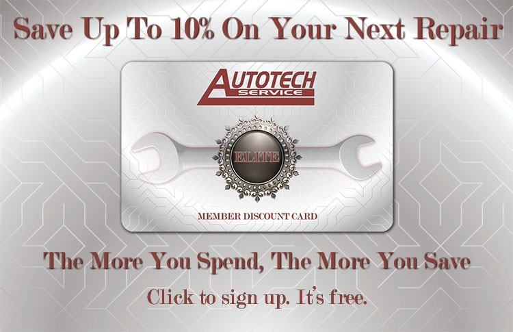 Promo image showing the Autotech ELITE member 10% discount offer